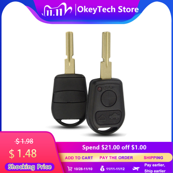 OkeyTech for BMW 3 Button Remote Key Shell Replacement Uncut HU58 Blade Cover Case Fob for BMW E31 E32 E34 E36 E38 E39 E46 Z3 image