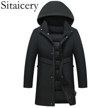 Sitaicery 2019 Down Jacket Man Duck Padding Thick Warm Snow Outerwear Men's Winter Jacket Coat Parka With Hat Factory Wholesale цены онлайн