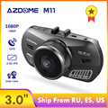 Видеорегистратор AZDOME M11  24-часовой монитор парковки  автомобильная мини-камера  двойной объектив  ночное видение  поддержка gps 1080P  оригинал