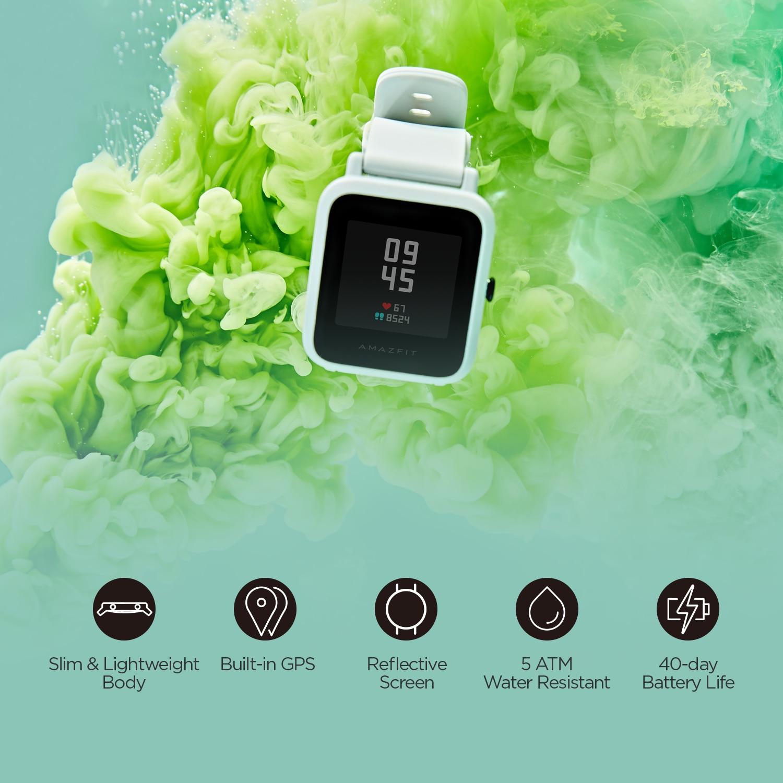 Оригинальные глобальная версия Amazfit Bip S 5ATM водонепроницаемые Смарт-часы с трекером сердца Bluetooth Смарт-часы CES-2