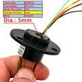2/4/6/12 каналов/кольца Slipring с отверстием Dia.5mm 2A Электрический скольжения кольцо полый вал