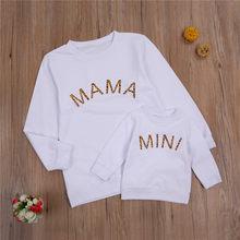 Sudaderas con capucha con letras a juego para Familia, Tops para madres, sudaderas para hijas, mamá, bebé, mujer, sudadera para niños pequeños