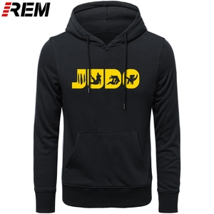 Image 5 - Sweat shirt, col ras du cou graphique, en coton imprimé, vêtement de Judo REM, Arts martiaux, cadeau pour hommes