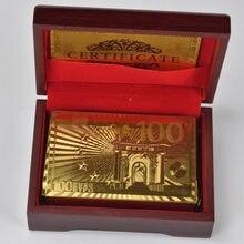 Tarjetas a prueba de agua para amigos, juego de tarjetas a prueba de agua, de plástico, dorado/plateado, diseño europeo, 100, 500