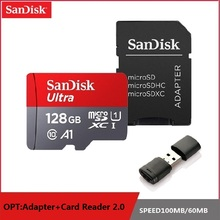 SanDisk Micro SD 128GB 64GB 32GB 16GB 98 เมกะไบต์/วินาที TF USB แฟลชเมมโมรี่การ์ด microSD 8GB /48 เมกะไบต์/วินาที Class10 Original การจัดส่งสินค้า
