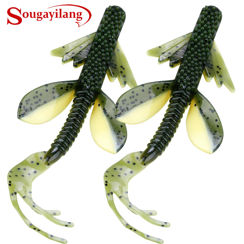 Sougayilang 2Pc Swimbait Worm  Fishing Lure 10g 125mm Soft Fishing Lure Saltwater/Freshwater Fishing Wobblers Bait