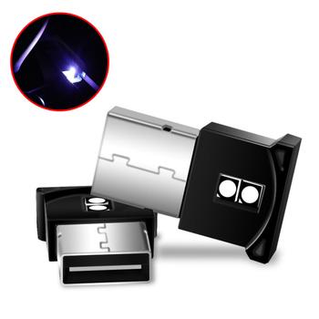 1 sztuk Mini dekoracyjna lampa oświetlenie awaryjne PC Auto lampa kolorowa RGB USB światła samochodowe LED wnętrze auta nastrojowe oświetlenie tanie i dobre opinie NONE CN (pochodzenie) Klimatyczna lampa