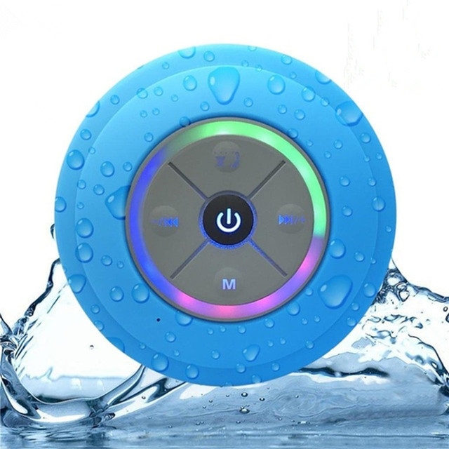 Nasin Portable Subwoofer Shower Waterproof Wireless Bluetooth Speaker Car Handsfree Call Music Suction Mic For IOS Android Phone 1