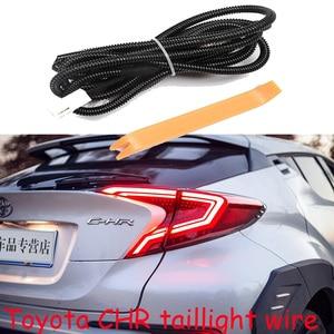 Image 1 - 1 adet araba tampon kuyruk ışık teli CH R CHR arka lambası fren 2017 ~ 2020y LED araba aksesuarları kuyruk lambası CH R,CHR arka ışık sis