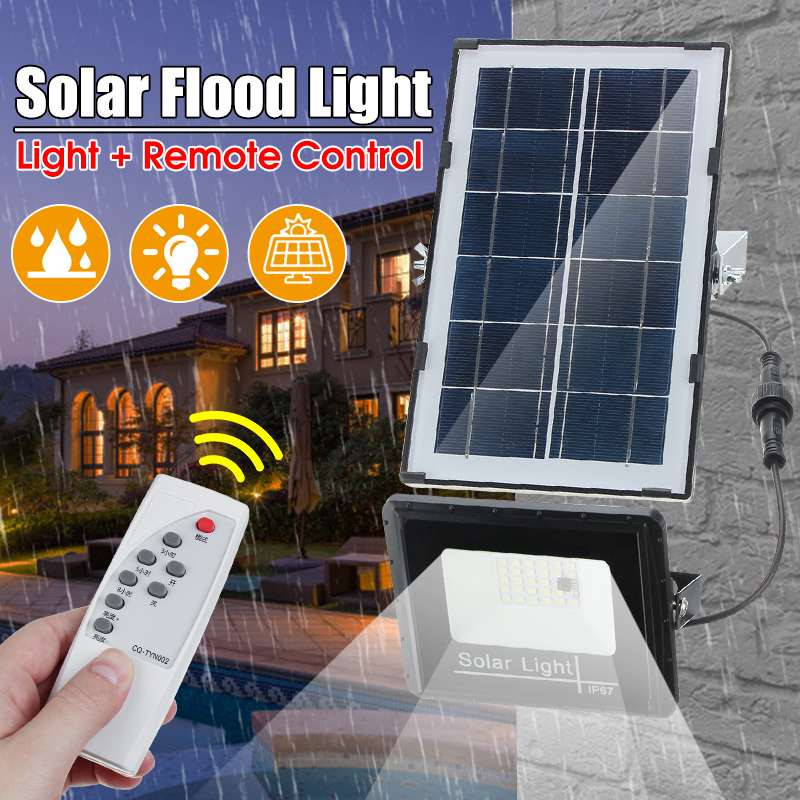 27 LED Solar Lamp Outdoor Waterproof  IP67 Timing Spotlight  Solar Powered Garden Light Wall Lamp Floodlight With Remote Control