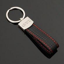 2021 couro genuíno para gti para rline logotipo do automóvel chaves de metal botão chian presentes cintura chaveiro do carro pingente feminino