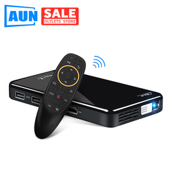 AUN LED Projector X2. WiFi Android 3D Beamer for Home Theater. MINI Projector Cinema. Support 1080P (Optional Voice Control)