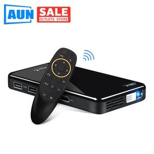 Image 1 - AUN PROJECTEUR LED X2. WiFi Android 3D projecteur pour Home cinéma. MINI projecteur cinéma. Prise en charge 1080P (commande vocale en option)