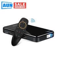 AUN projecteur LED X2. WiFi Android 3D projecteur pour Home cinéma. MINI projecteur cinéma. Support 1080P (commande vocale en option)