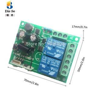 Image 5 - 433MHz 범용 무선 원격 제어 AC 85V 220V 2CH 릴레이 수신기 모듈 차고 문 램프 전구 전기 기계 빛