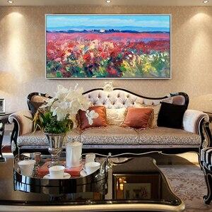 100% ручная краска ed абстрактная пейзажная масляная краска на холсте масляные краски в качестве подарка краска ing подарок домашний декор укра...
