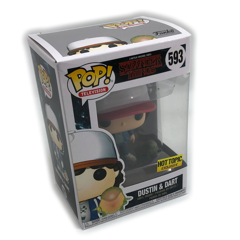 FUNKO POP Stranger Things Vinyl Figure New #593 Dustin & Dart Collection Action Figure Model Vinyl Doll Toys Gifts For Kids