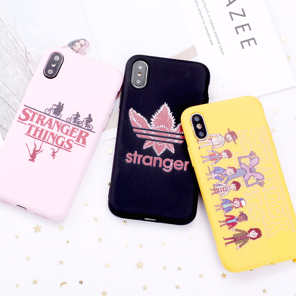 For 11 Pro 8 8Plus X <font><b>XR</b></font> 7 7Plus XS Max 6 6S 5 SE <font><b>Stranger</b></font> <font><b>Things</b></font> Eleven Comics Candy Silicone Soft <font><b>Phone</b></font> <font><b>Case</b></font> Coque Funda image