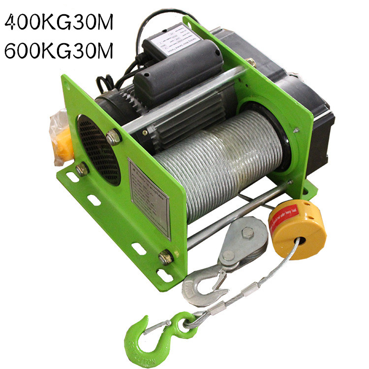 Small Wire Rope Hoist Mini Electric Hoist 400/600KG 30M Small Hoist For Decoration Of Household Buildings
