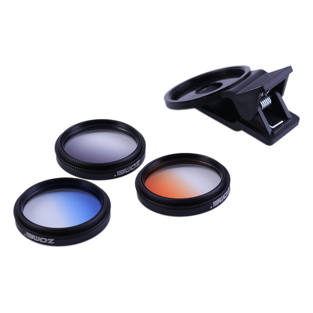 37MM Professional MATEM2 4 In 1 Universal Mobile Phone Filter Lens + Lens Clips Set For Iphone For Samsung 3 Filter Lens Mobile Phone Lens     - title=