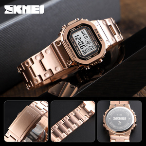Image 3 - SKMEI Women Digital Watches Fashion Sport Wristwatch Stopwatch Chronograph Waterproof Bracelet Ladies Dress Watch Alarm Clock