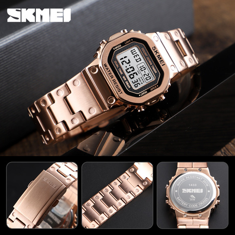 SKMEI Women Digital Watches Fashion Sport Wristwatch Stopwatch Chronograph Waterproof Bracelet Ladies Dress Watch Alarm Clock Karachi