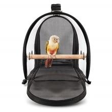 Переносная Дорожная сумка из ПВХ, товары для животных, дышащая уличная сумка с ручкой на молнии, переноска для птиц, прозрачная клетка для попугая Li