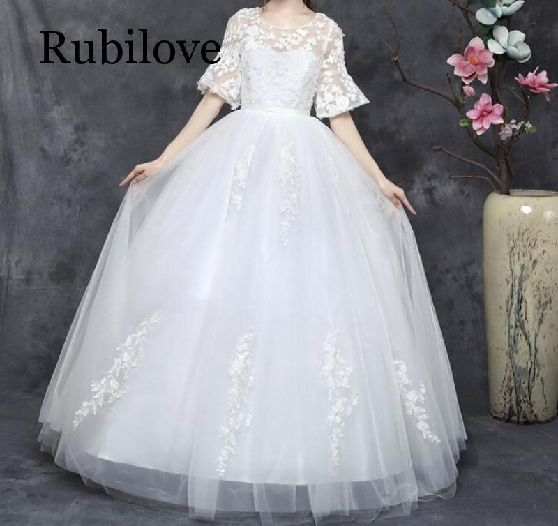 Rubilove Large size fat mm bride was thin 2019 new plus fertilizer to increase simple cover arm word shoulder female Korean