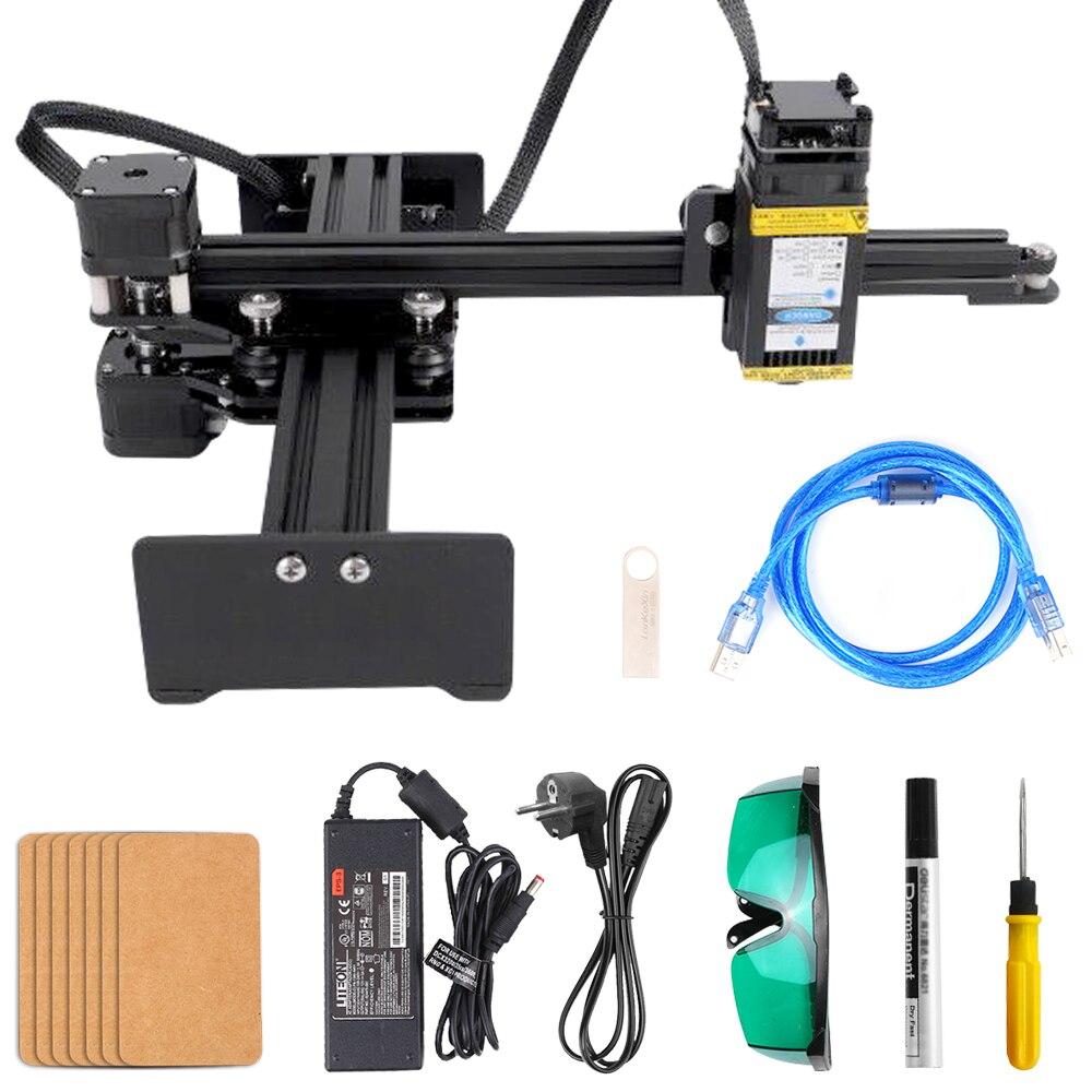 10W Laser Engraver Desktop Single Arm CNC Router Carving Laser Engraving Machine CNC Machine Tool Plastics Wood Mini Carver