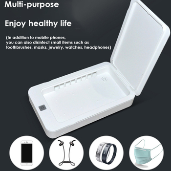 5V UV Phone Sterilizer Box Jewelry Phones Cleaner Personal Sanitizer Disinfection Cabinet with Aroma Esterilizador For Mask