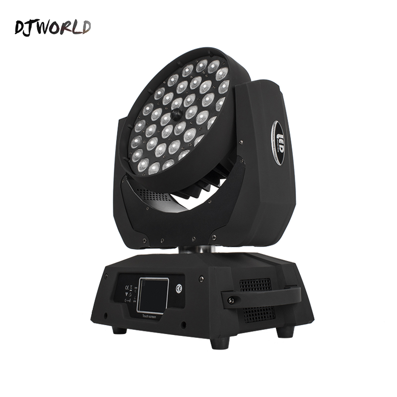 LED 36x18W RGBWA+UV Zoom Moving Head 6in1 Led Wash DMX512 Factory Directly Sale Dj Disco Stage Lighting Good For Party NightClub