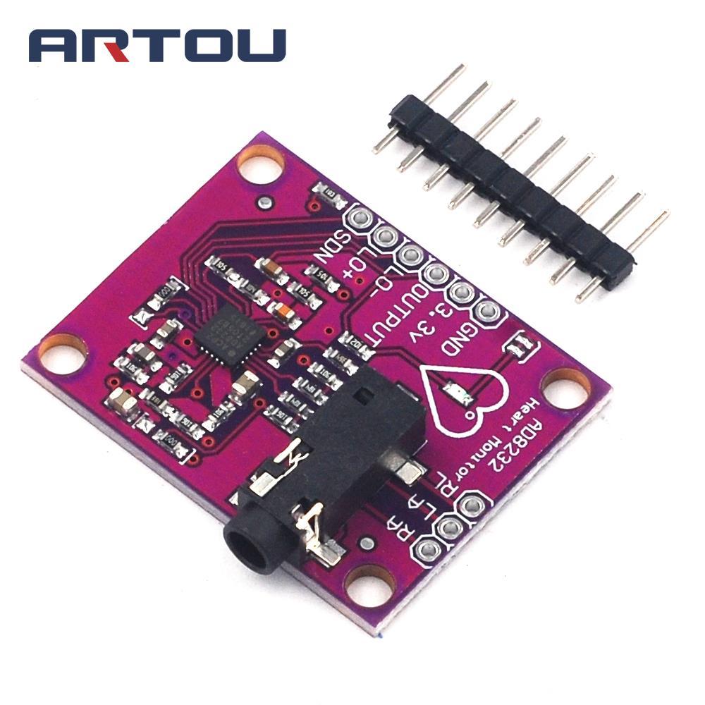 AD8232 Single Lead Heart Rate Monitor ECG Developemt Board Module for Arduino Compatible Diy Kit Electronic PCB Board Module