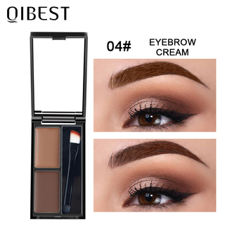 QIBEST Eyebrow Makeup Eyebrow Powder Gel Palette Eyebrows Enhancer With Brush Professional Cosmetics Eyebrow Shadows Soap Wax 1