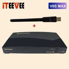 3 шт., цифровой спутниковый ресивер Solovox V8S MAX, выход AV HD с USB, Wi Fi, веб ТВ, Biss ключ, Youporn CCCAMD, новая фотокамера, DVB S2 H.256