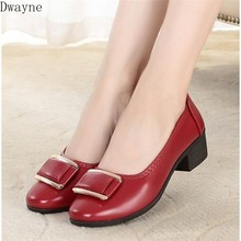 2019 autumn new non-slip soft bottom buckle with wild women's shoes