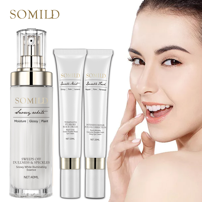 SOMILD Anti Aging Skin Care Set Whitening Emulsion Face Lift Lotion Dark Circle Wrinkle Removal Eye Cream Facial Essence Korean