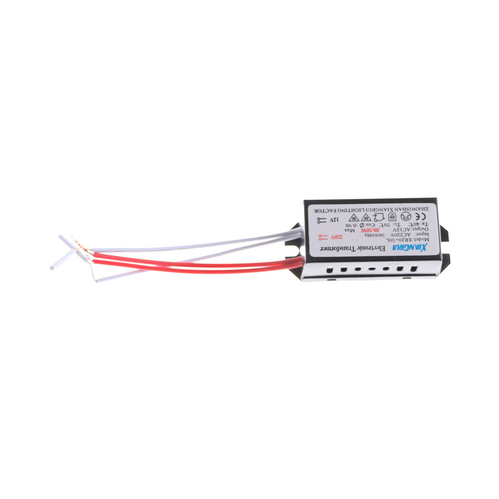 AC 220V to 12V 20-50W LED Transformator Halogen Lamp Electronic Transformer LED Driver Power Supply Lighting