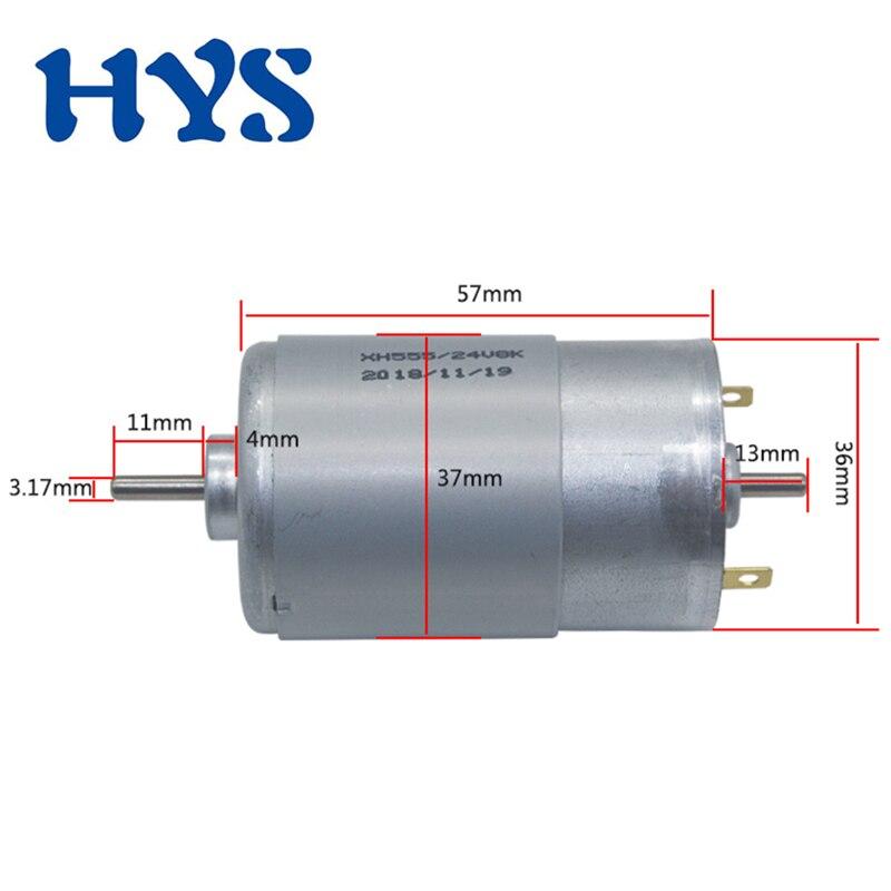 DC 12V 24V Motor Double Output Shaft 11mm Electric 555 Motor DC 12 Volt 4000rpm 8000rpm Micro Mini Motors DC12V fElectric drill