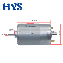 цена на HYS Double Output Shaft Motor DC 12V 24V 4000/8000rpm High Speed Electric Motor DC 12 Volt Micro Mini Motors for Electric drill