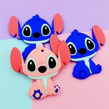 5/10 pçs stitch bebê silicone mordedor bpa livre mastigável silicone dentição brinquedos para o presente infantil cuidados com o bebê