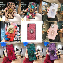 11 Pro DIY gemstone Holder Stand Phone Case For iphone 11 Pro XSMAX 7Plus 6 6S Plus 8 Plus XS XR Soft TPU Retro palace Cover(China)