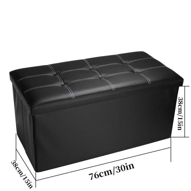 Ottoman Leather Storage Box  5