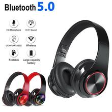 Headset wireless Bluetooth headset B39, color LED breathing lamp can be folded, built-in FM with microphone support TF headset support sdcard fm bluetooth three in one headset universal wireless portable folding headset for mobile phone