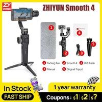 ZHIYUN Glatte 4 3 Achse Smartphone Handheld gimbal stabilisator steadicam für iphone 6 X Action kamera Huawei P20 Pro Gopro4 SJCAM