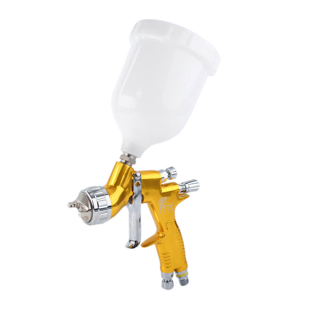 1.3mm Nozzle Professional T110 Spray Gun For Devilbiss GTI ProLite  High Quality Replacement Black / Gold