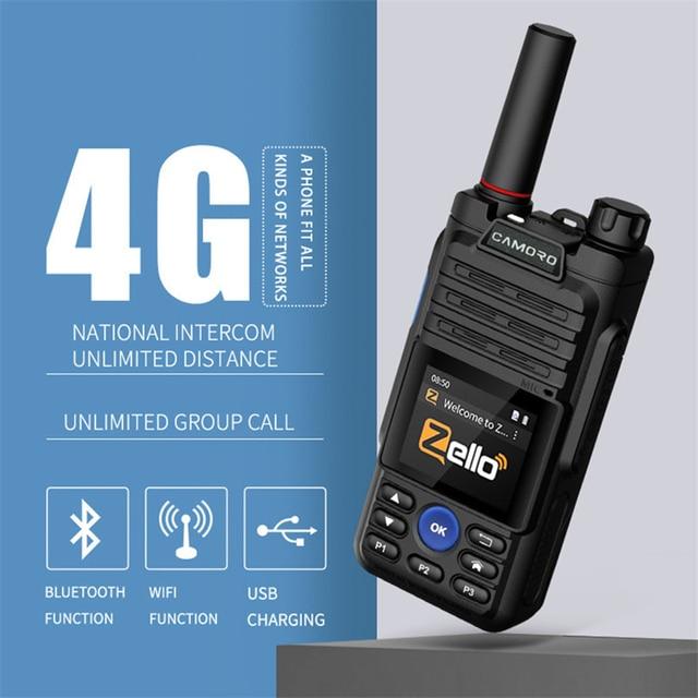 6800mAh Zello Radio Transceiver 4G Intercom Android Network Walkie Talkie WIFI GPS CB Poc Radio Two-way radio Woki Toki 5000 km 1