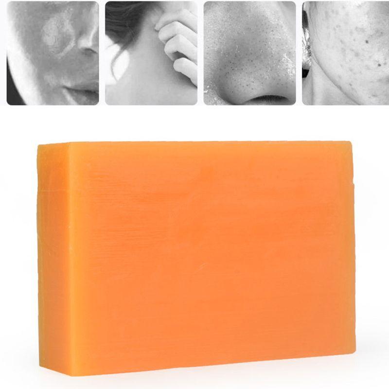 Savon noir foncé éclaircissant pour la peau, 100g, à l'acide kojique, à la glycérine, pour le visage et le corps