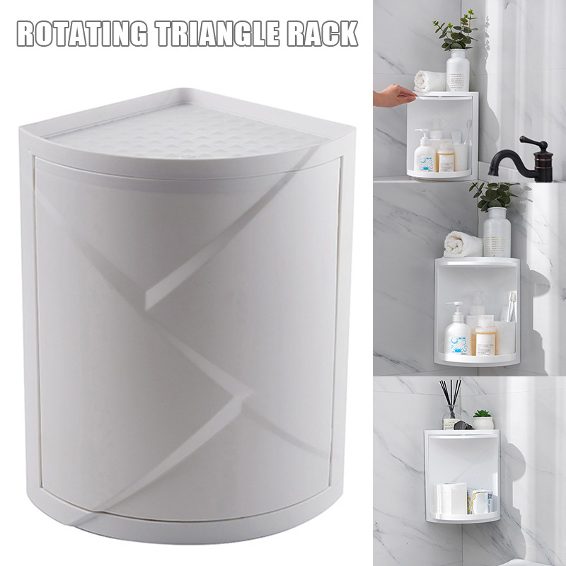 Sucker Triangle Shelf Bathroom Kitchen Storage Corner Rack OK