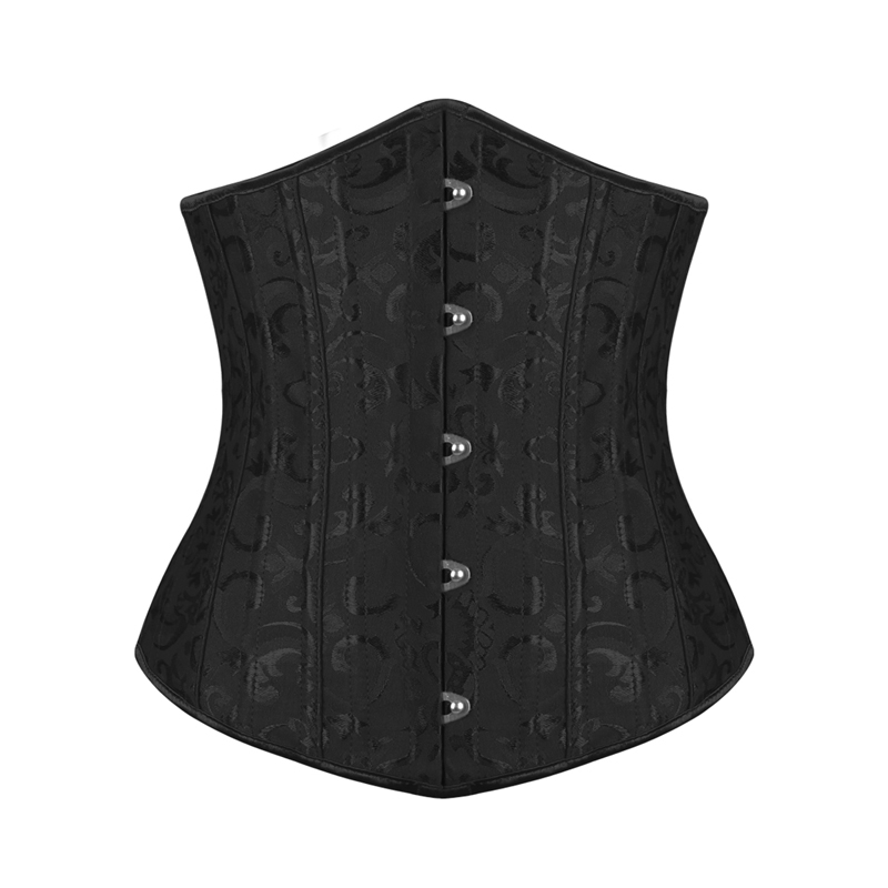 Burvogue Steel Bone Flora Underbust Corset Women Slimming Corset & Bustier Waist Control Corselets Lace Up Waist Trainer XXS-6XL