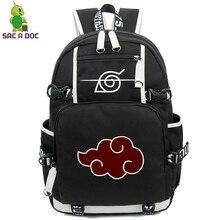 Plecak Anime Naruto torby plecaki szkolne nastolatków Akatsuki Itachi Sharingan zmienić kolor Cosplay chłopcy dziewczyny torby na Laptop plecak podróżny